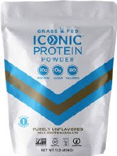 Iconic Unflavored Protein Powder, 16 oz.