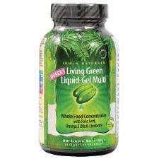 Irwin Naturals Women's Living Green Liquid Gel Multi, 90 liquid soft gels
