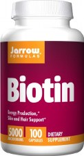 Jarrow Formulas Biotin, 5000mcg, 100 capsules