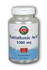 KAL Pantothenic Acid Sustained Release, 100 tablets