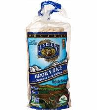 Lundberg Lightly Salted Organic Brown Rice Rice Cakes, 8.5 oz.