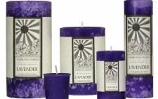 "Sunbeam Lavender Aroma Pillar Candle, 6"""