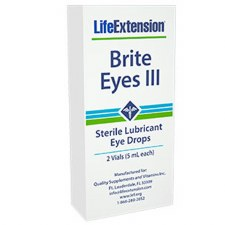 Life Extension Bright Eyes III Sterile Lubricant Eye Drops, .33 oz.