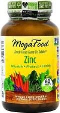 MegaFood Zinc, 60 tablets