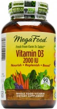 MegaFood Vitamin D3 1000 IU, 30 tablets