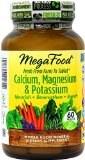 MegaFood Calcium, Magnesium & Potassium, 60 tablets