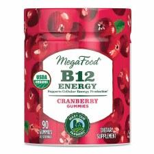 MegaFood Cranberry B12 Energy Gummies, 90 gummies