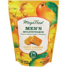 MegaFood Tropical Multi Vitamin Chews for Men, 30 count