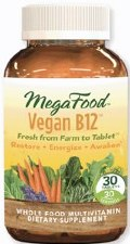MegaFood Vegan B-12, 30 tablets