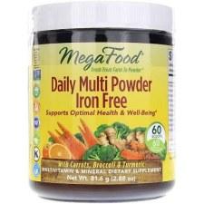 Mega Food Daily Multi Powder Iron Free, 2.88 oz.