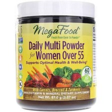 Mega Food Women's Daily Multi Powder 55+, 3.07 oz.