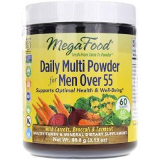 Mega Food Men's Daily Multi Powder 55+, 3.13 oz.