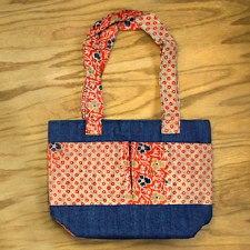 Minga Fair Trade Imports Denim Tote Bag
