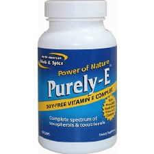 North American Herb & Spice Purely-E, 60 capsules