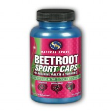 Natural Sport Beetroot Sport Caps + Di-Arginine Malate and Turmeric Superfood Nitric Oxide Formula, 90 vegetarian Capsules