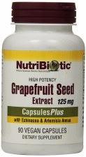 NutriBiotic Grapefruit Seed Extract 125 mg with Echinacea & Artemisia Annua, 90 veggie capsules