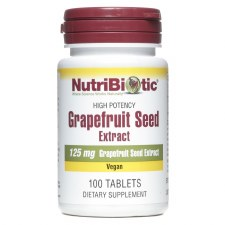 NutriBiotic Grapefruit Seed Extract 125 mg, 100 tablets
