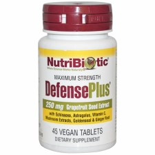 NutriBiotic DefensePlus 250mg, 45 vegan tablets