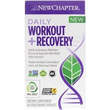 New Chapter Daily Workout Recovery, 60 vegetarian capsules