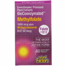 Natural Factors BioCoenzymated Methylfolate B12, 60 tablets