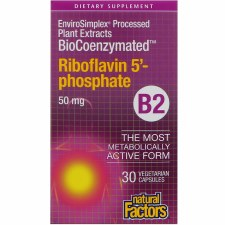 Natural Factors BioCoenzymated Riboflavin 5' - phosphate B2, 30 vegetarian capsules