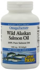 Natural Factors Wild Alaskan Salmon Oil, 90 soft gels
