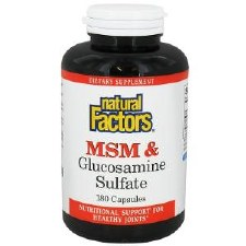 Natural Factors MSM & Glucosamine Sulfate, 180 capsules