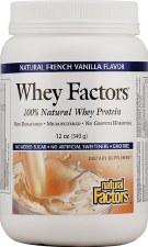 Natural Factors Whey Factors Vanilla Whey Protein  Powder, 12 oz.