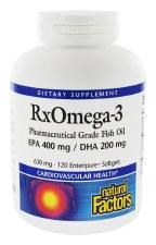 Natural Factors RxOmega-3, 120 soft gels