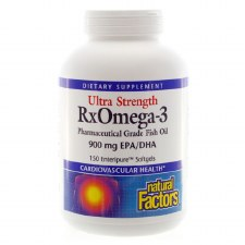 Natural Factors Ultra Strength RxOmega-3 Factors 900 mg EPA/DHA, 150 soft gels