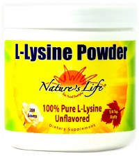 Nature's Life L-Lysine Powder, 200 grams