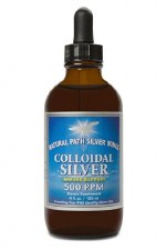 Natural Path Silver Wings Colloidal Silver 500ppm Drops, 4 oz.