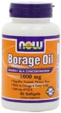 NOW Foods Borage Oil 1000mg, 60 soft gels