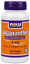 NOW Foods Astaxanthin 4 mg, 90 soft gels