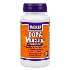 NOW Foods DOPA Mucuna 15% L-DOPA, 90 vegetarian capsules