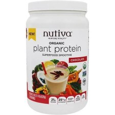 Nutiva Chocolate Superfood Plant Protein, 21.9 oz.