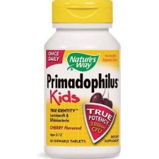 Nature's Way Primadophilus Kids Cherry 60 Chewable Tablets