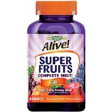 Nature's Way Alive! Super Fruits Kids Complete Multi, 60 gummies