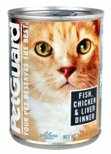 Pet Guard Fish, Chicken & Liver Dinner Canned Cat Food  14 oz