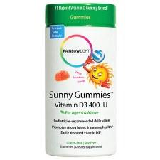 Rainbow Light Sunny Gummies Vitamin D3 400 IU, 60 gummies