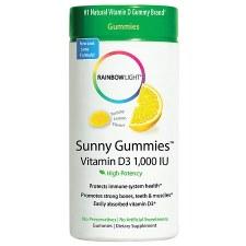 Rainbow Light Sunny Gummies Vitamin D3 1,000 IU, 100 gummies