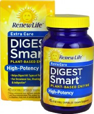 Renew Life Digest Smart Extra Care, 45 vegetable capsules