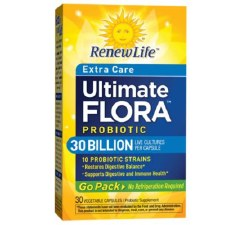 Renew Life Extra Care Ultimate Flora Probiotic Go Pack, 30 vegetable capsules