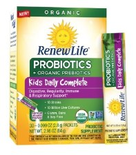 Renew Life Kids Daily Complete Probiotics and Organic Prebiotics, 30 packets