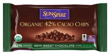 Sunspire Fair Trade Organic 42% Cacao Chips Semi-Sweet Chocolate Chips, 9 oz.