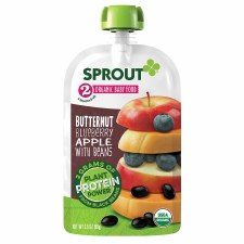Sprout Butternut Blueberry Apple with Beans Organic Baby Food, 3.5 oz.