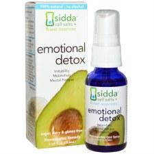 Siddha Flower Essences Emotional Detox Homeopathic Oral Spray, 1 oz.