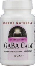 Source Naturals GABA Calm Peppermint Flavored Sublingual, 60 tablets