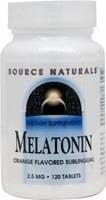 Source Naturals Sublingual Orange Melatonin 2.5mg, 120 tablets