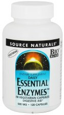 Source Naturals Essential Enzymes 500mg, 120 vegetarian Capsules